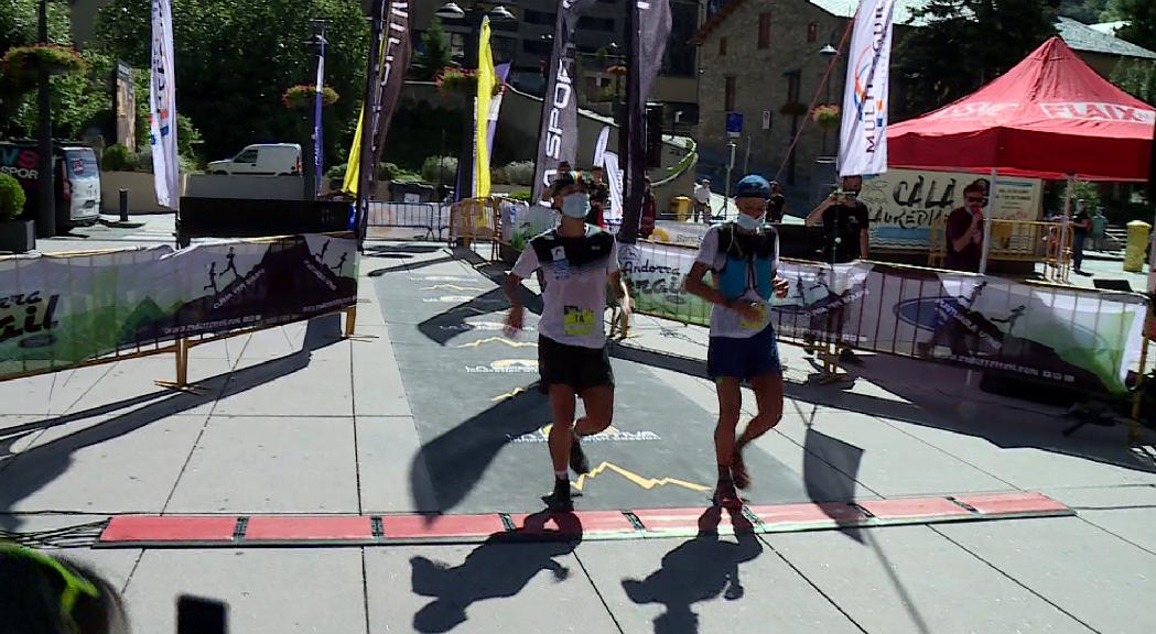 Els germans Casal, primers classificats la primera jornada de la Sportiva Andorra Trail