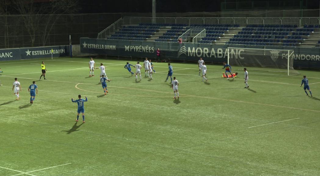 Un gol en pròpia porta impedeix a l'FC Andorra aconseguir el lideratge de Segona B