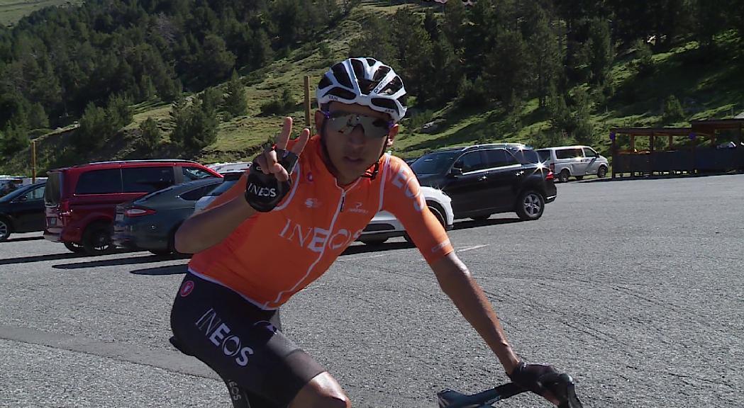 Els guanyadors del Tour i del Giro, Egan Bernal i Richard Carapaz, estrelles aquests dies dels ports andorrans