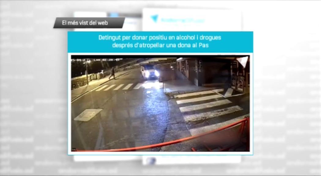 Les imatges de l'atropellament d'una dona al Pas, el més vist de la setmana a Andorra Difusió