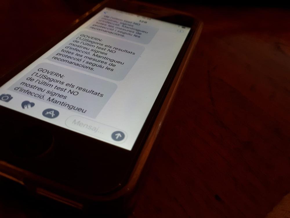 Una incidència en el sistema de cribratge massiu d'Actua Tech envia el mateix missatge fins a 12 vegades