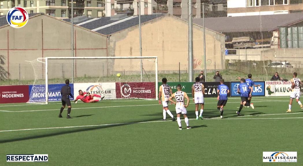 L'Inter d'Escaldes referma el lideratge a la lliga nacional