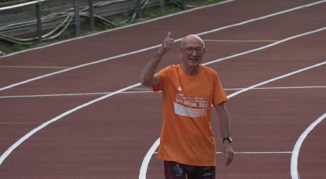 Jesús Rondán, una passió incombustible per la marató amb 76 anys