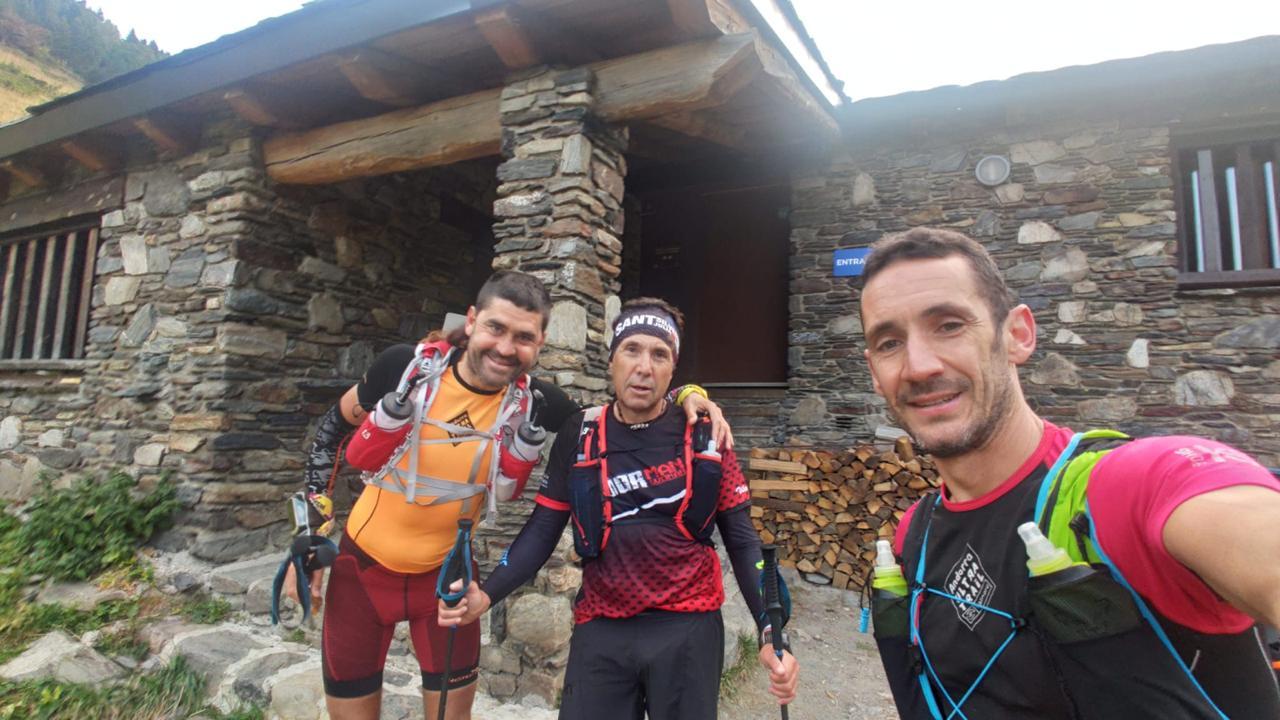 Jordi Cornella, Salvador Vilalta i Xavi Puit recorren d'una tirada els 191 quilòmetres que separen els 27 refugis d'Andorra