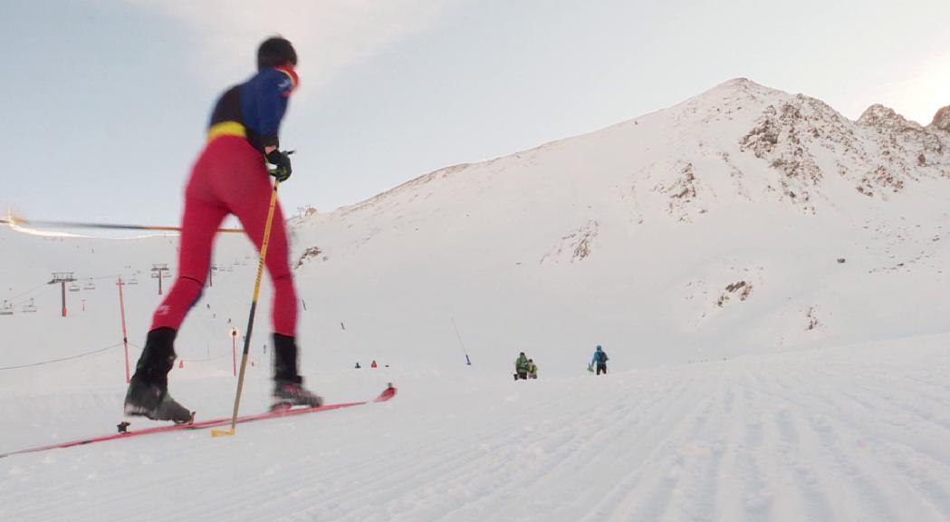 Laia Sebastià i Martí Lázaro, campions d'Andorra d'esquí de muntanya després que es cancel·lin les dues últimes proves