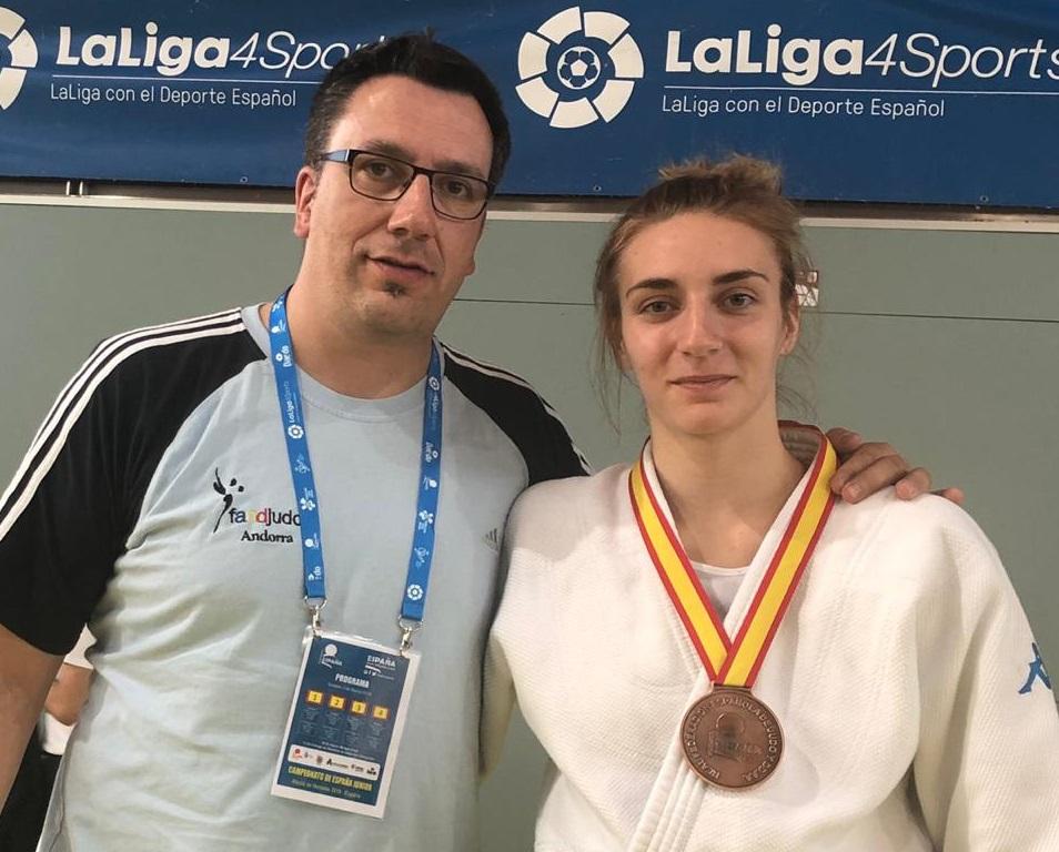 Lea Adam fa tercera al Campionat d'Espanya en menys de 70 kg