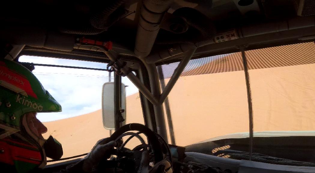 Llovera torna satisfet del primer test amb l'Iveco abans del Dakar