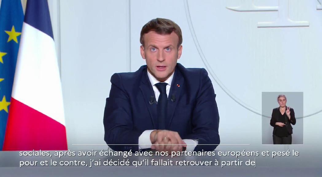 Macron anuncia un nou confinament domiciliari i el tancament de les fronteres exteriors amb la Unió Europea