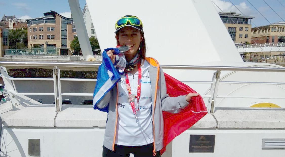 Maria Jesús Martínez, segona de la seva categoria en la primera prova de ciclisme dels Jocs Mundials de trasplantats