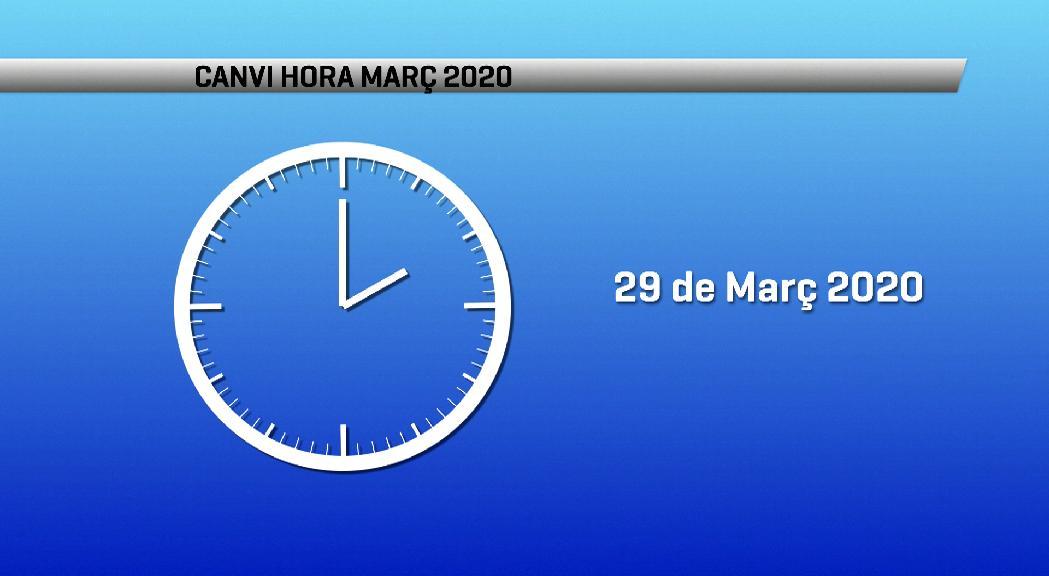 La matinada d'aquest dissabte a diumenge toca avançar una hora el rellotge