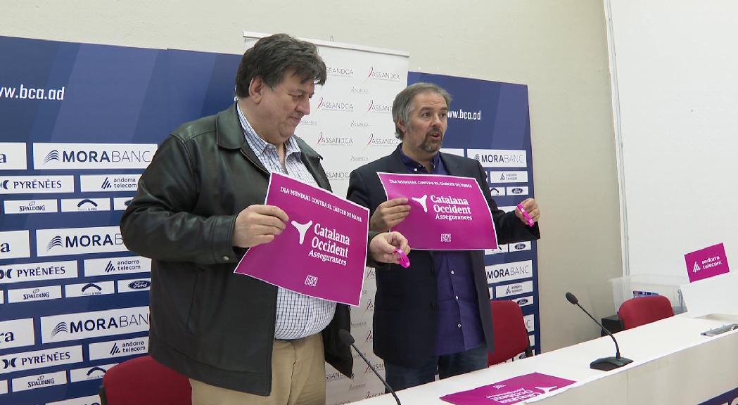 MoraBanc i ASSANDCA organitzen un mosaic rosa per al Dia mundial contra el càncer de mama