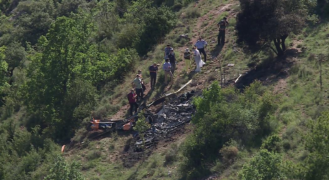 Dos morts en un accident d'helicòpter a la Vansa i Fórnols