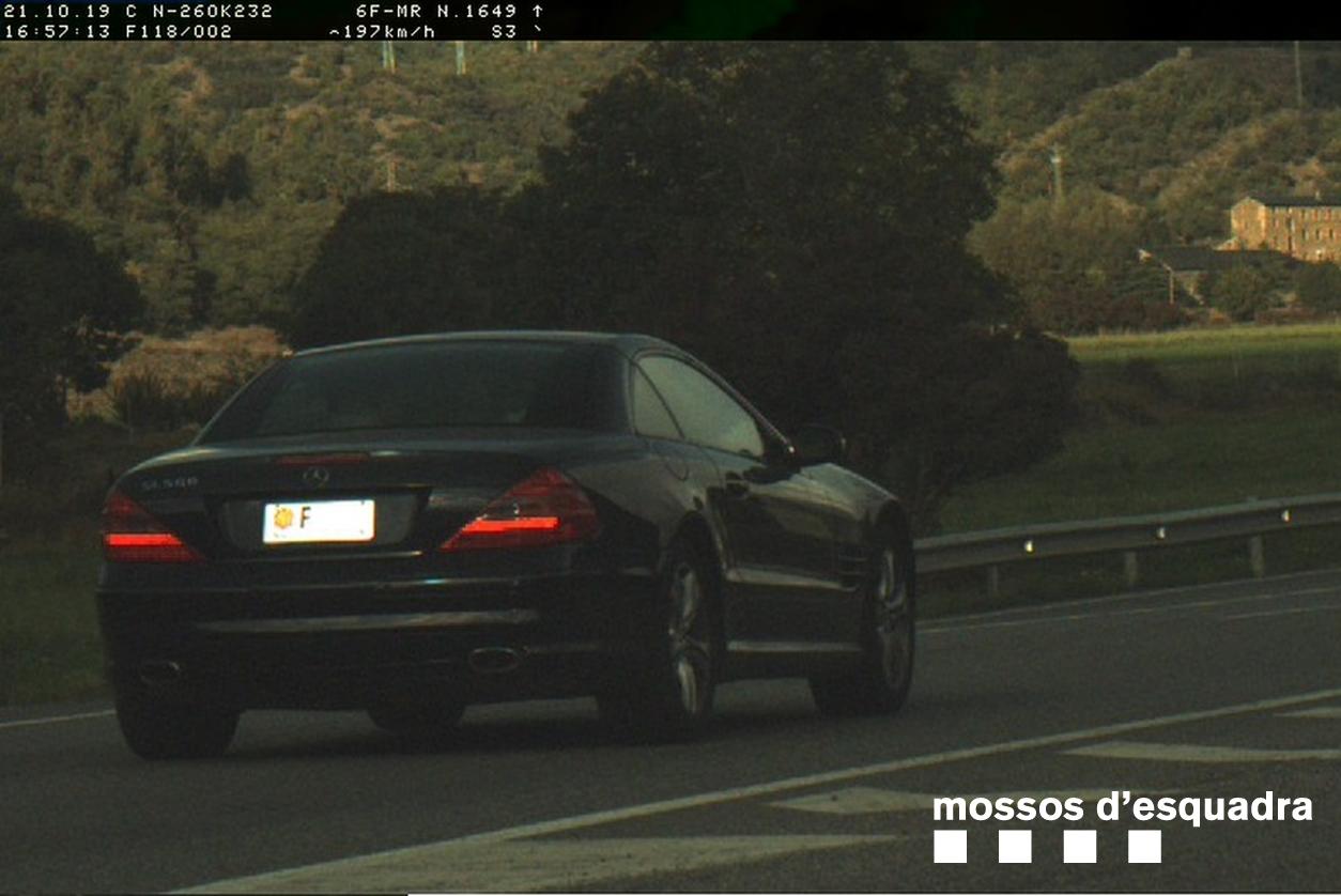Els Mossos enxampen un andorrà de 24 anys a 197km/h a Montferrer