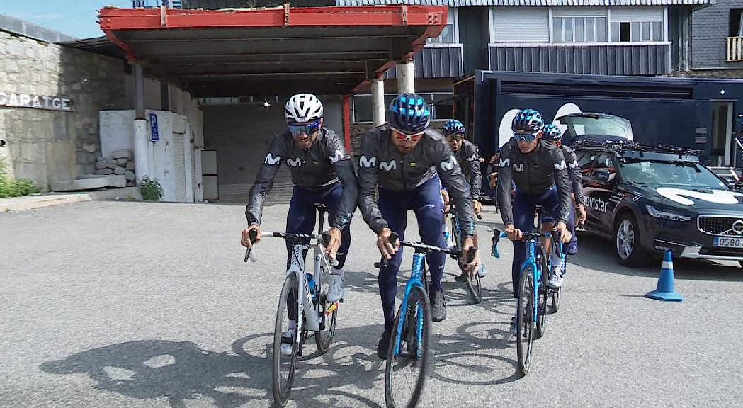 Movistar i Bahrain s'estan gairebé un mes a Andorra per preparar el Tour