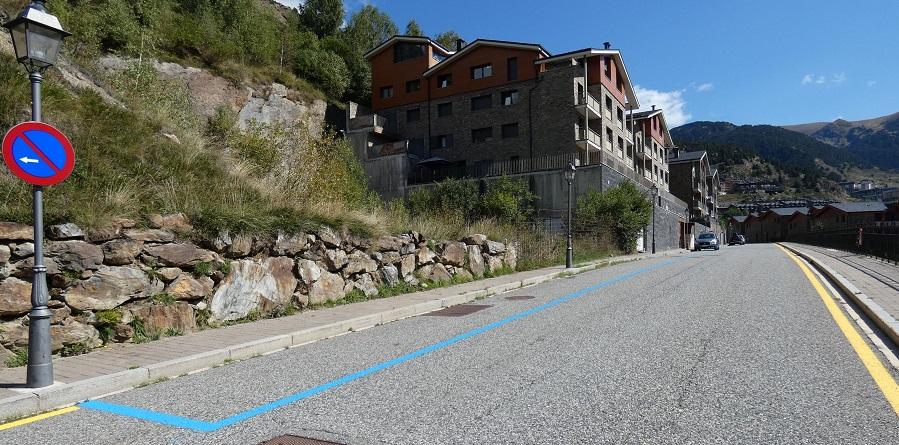 Nova zona blava a la carretera de Ransol