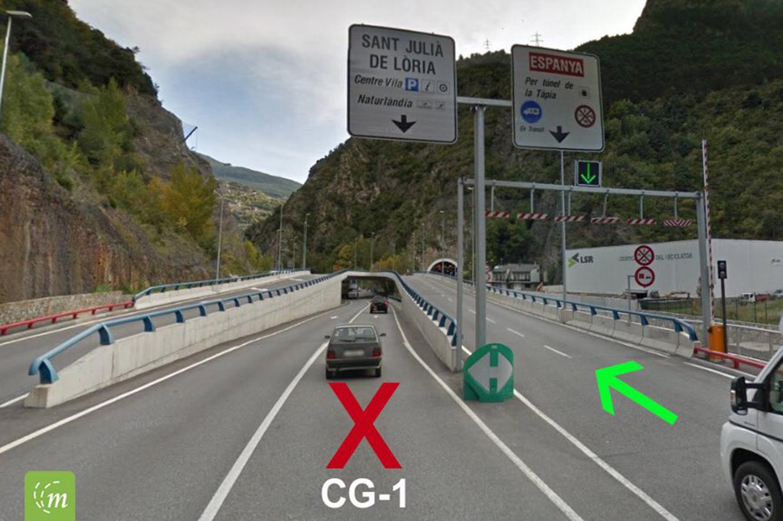 Les obres en els accessos al túnel de la Tàpia provocaran modificacions en l'entrada i la sortida de Sant Julià a partir de dimarts