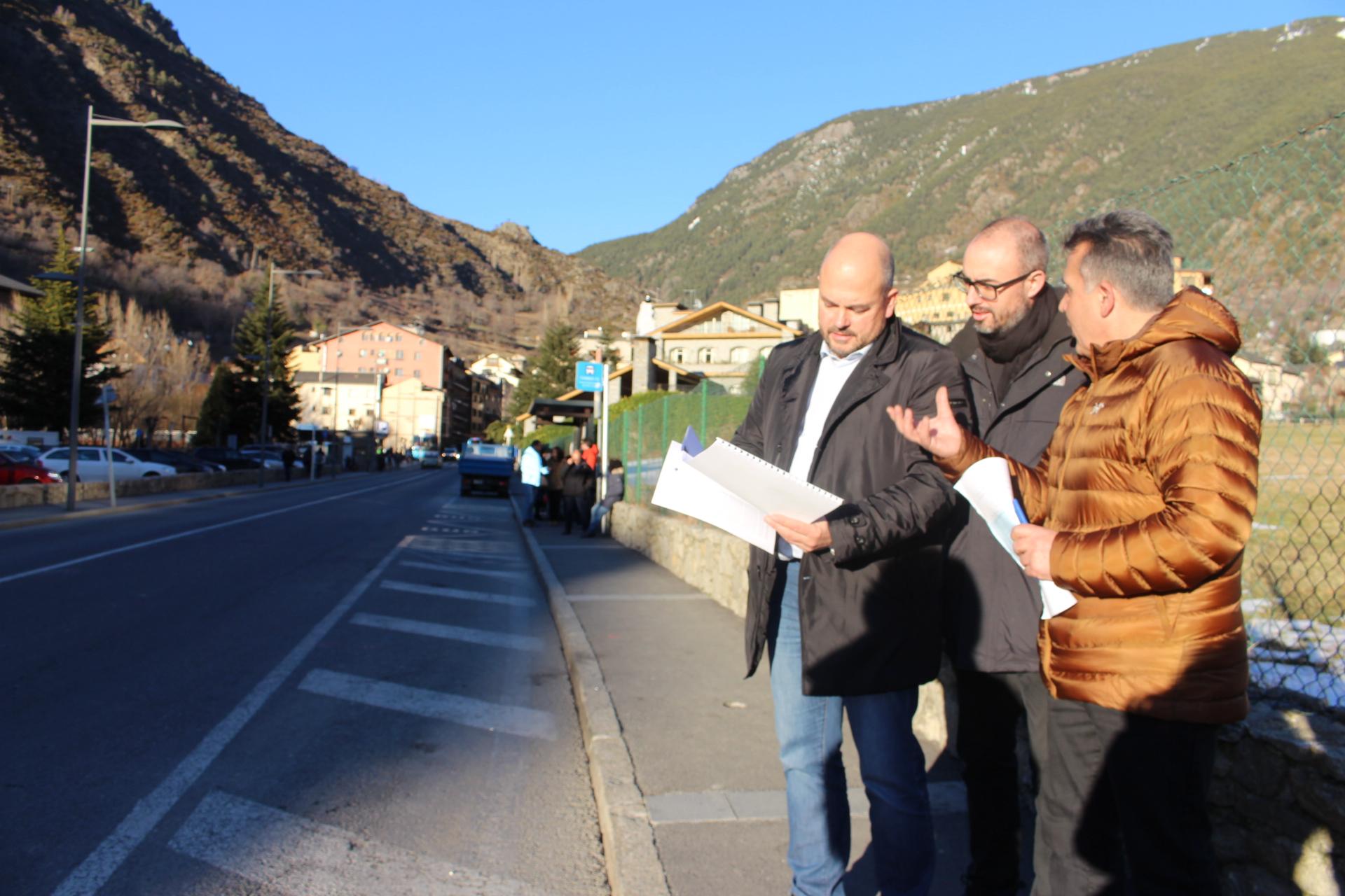 Les obres de l'avinguda a Encamp afectaran el transport col·lectiu i la circulació interior