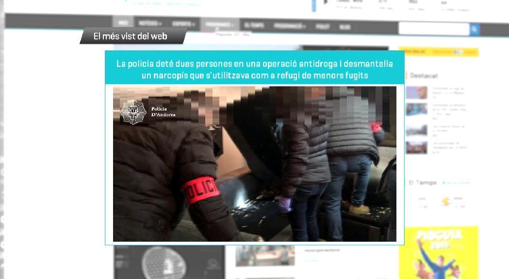 L'operació antidroga per desmantellar un narcopís, el més vist de la setmana al web