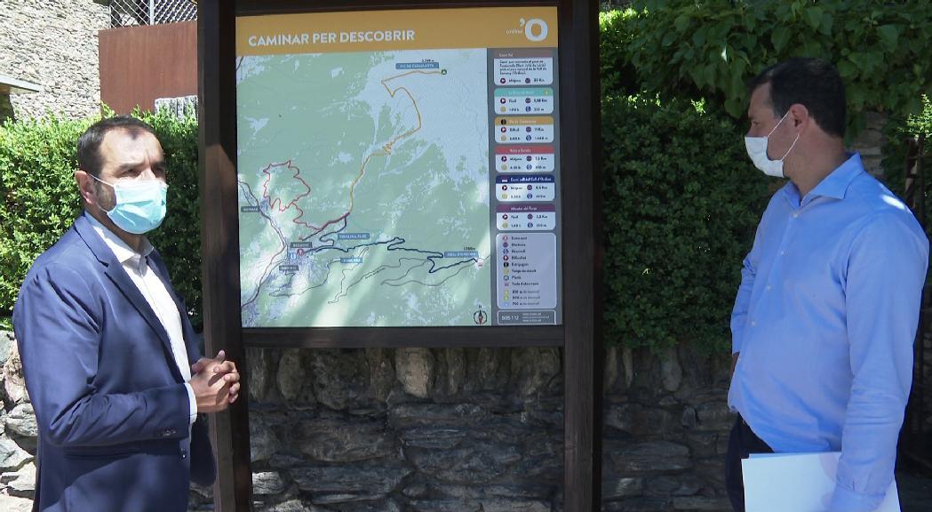 Ordino ofereix 34 camins amb plafons informatius per descobrir la parròquia aquest estiu
