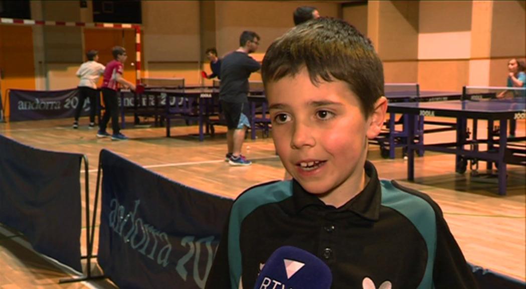 Oriol Martínez, seleccionat amb vuit anys per la Federació Europea de tennis taula