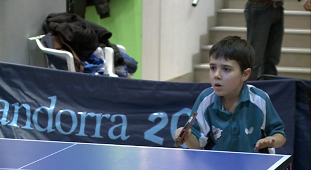 Oriol Martínez: una sensació del tennis taula amb 8 anys