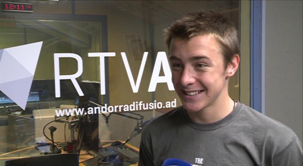 Oriol Olm arriba a Andorra com a campió del món de cursa vertical