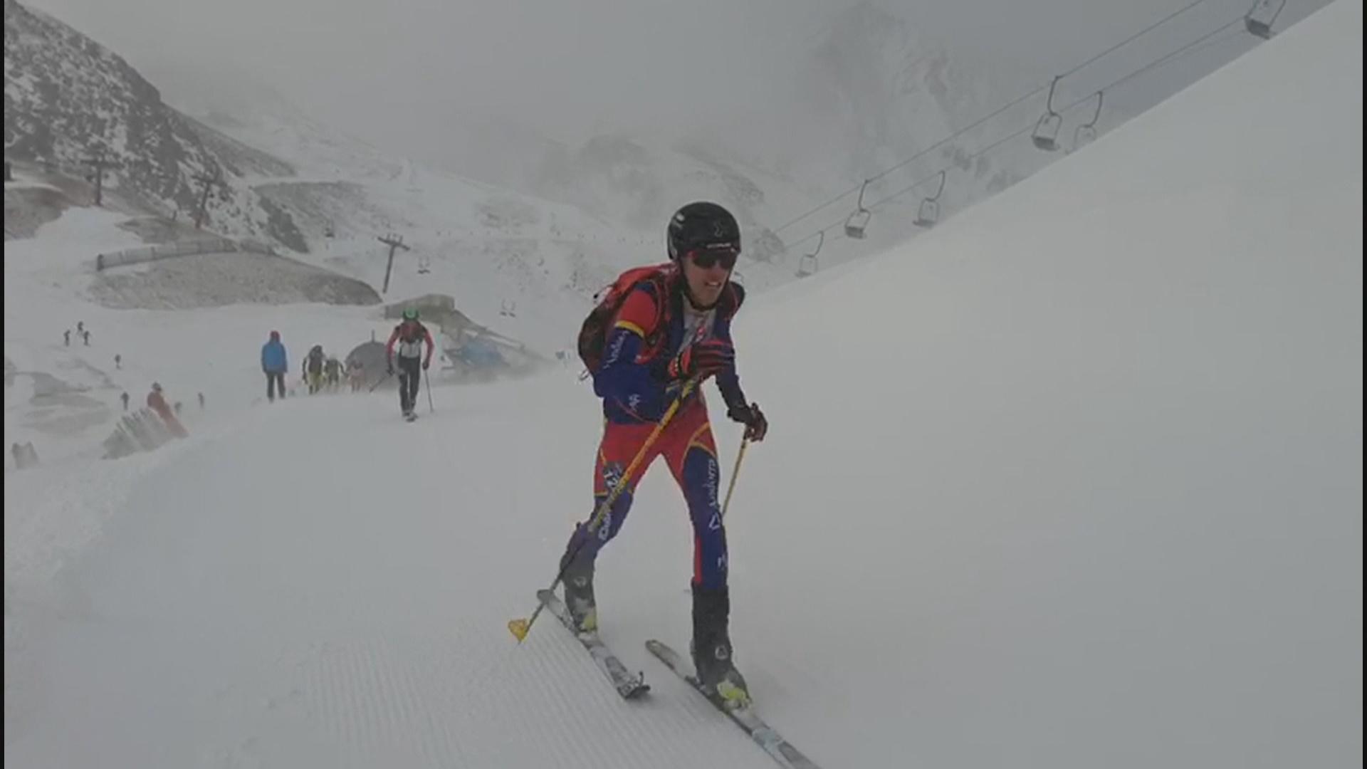 Oriol Olm fa doblet al Campionat d'Espanya d'esquí de muntanya