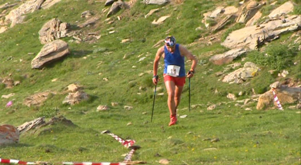 Òscar Casal i Arnau Soldevila disputen la cursa vertical de l'Europeu d'Itàlia