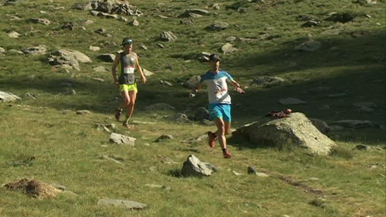 Òscar Casal i Imma Parrilla, campions de la Copa d'Andorra de curses de muntanya