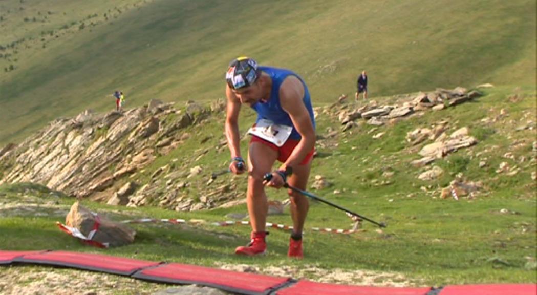 Òscar Casal, onzè a la vertical del Campionat d'Europa de curses de muntanya