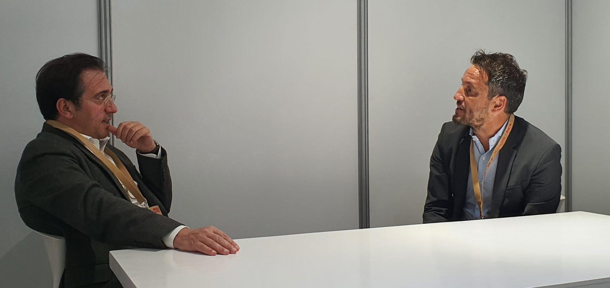 Pere López es reuneix amb el ministre d'Afers Exteriors d'Espanya