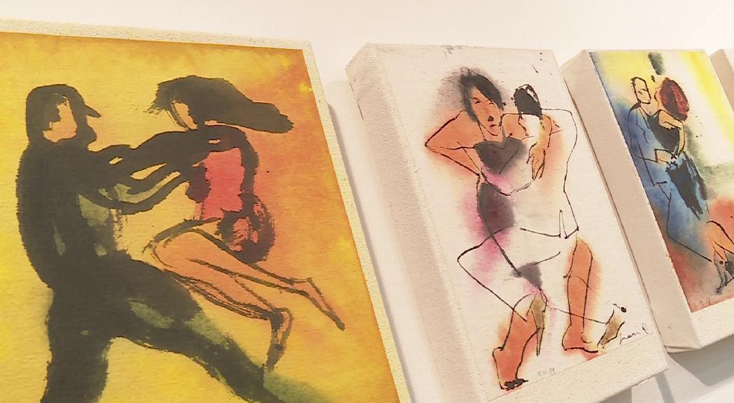"""Perico Pastor revindica """"la intimitat del gest"""" a la mostra 'Pinzells en dansa'"""