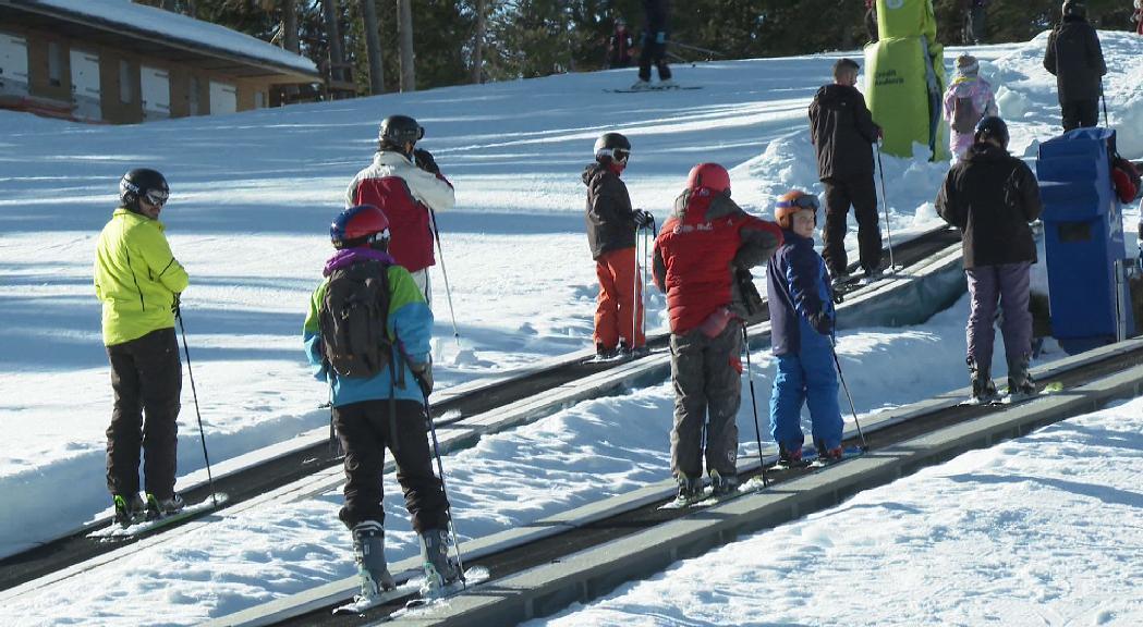 Les pistes s'omplen de visitants en un començament de temporada immillorable