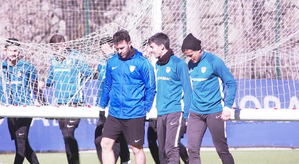 La plantilla del FC Andorra vol convertir el partit contra el Vila-real B en un punt d'inflexió