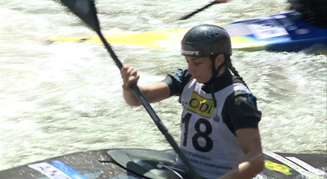 Podi de Doria en canoa a la Pyrénées Cup de Pau