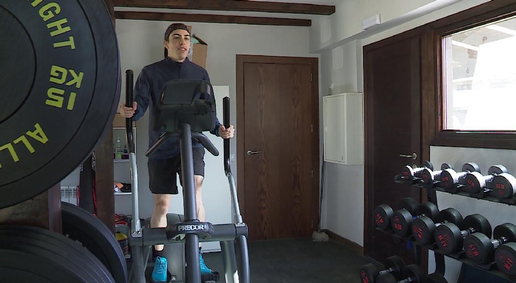 Pol Moya entrena al refugi de la FAE a Naturlàndia per arribar en plena forma als Jocs Olímpics
