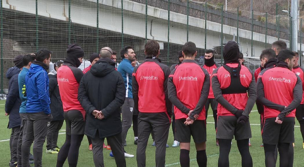 Primer entrenament d'Eder Sarabia al capdavant del FC Andorra