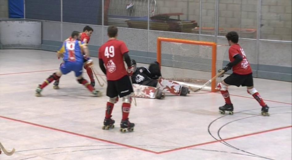 Primera victòria de l'Andorra Hoquei Club (7-5)