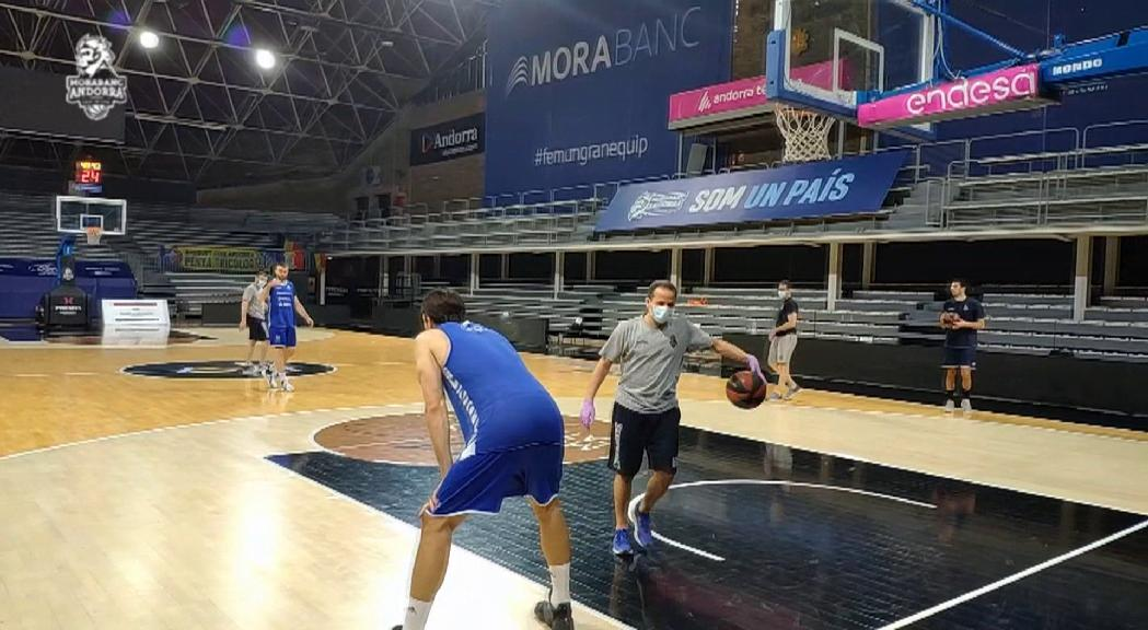 Primers entrenaments en grup del MoraBanc Andorra