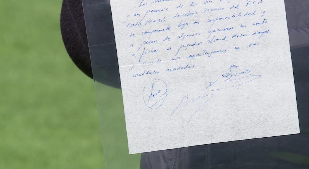 """El propietari del tovalló de Messi: """"ha d'estar al museu"""" del Barça perquè és """"un paper que pertany als culers"""""""