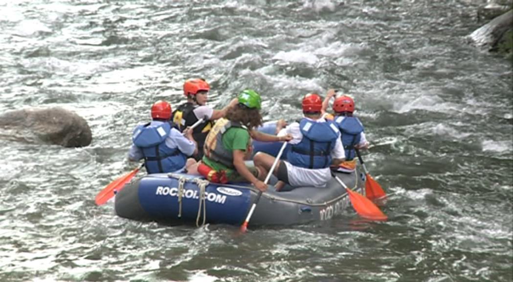 Amb prou aigua, els tècnics creuen que el Valira és un bon riu per fer-hi ràfting