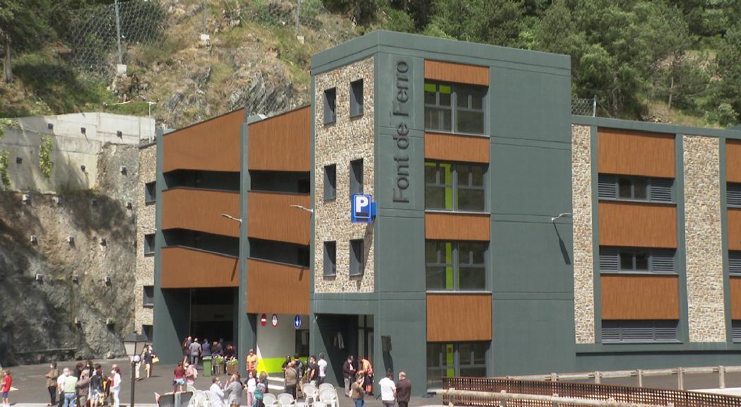 Ransol estrena un nou aparcament vertical amb més de 200 places