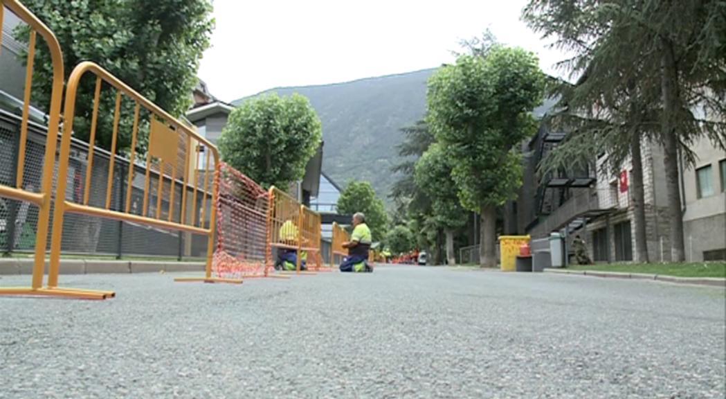Reforma del carrer Major en el marc de la remodelació de les avingudes d'Encamp
