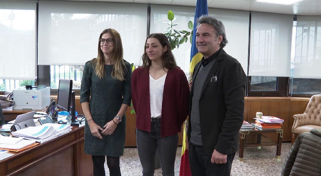 La ministra d'Esports, Sílvia Riva, i el secretari d'Estat