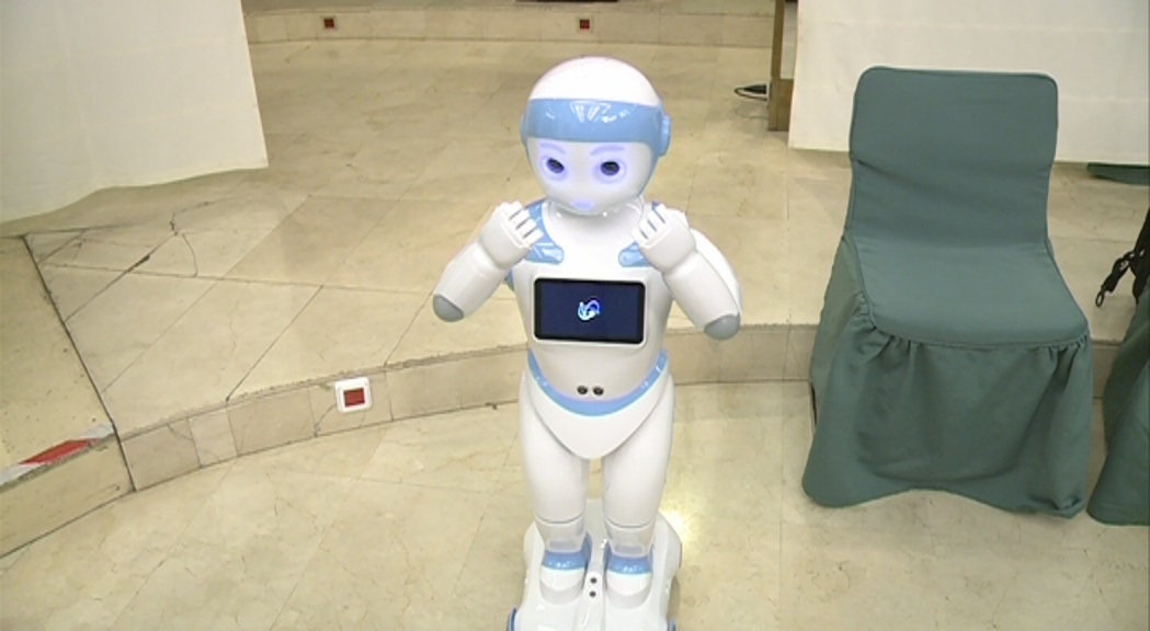 Un robot d'intel·ligència artificial, protagonista de la segona jornada del Congres Internacional de Blockchain