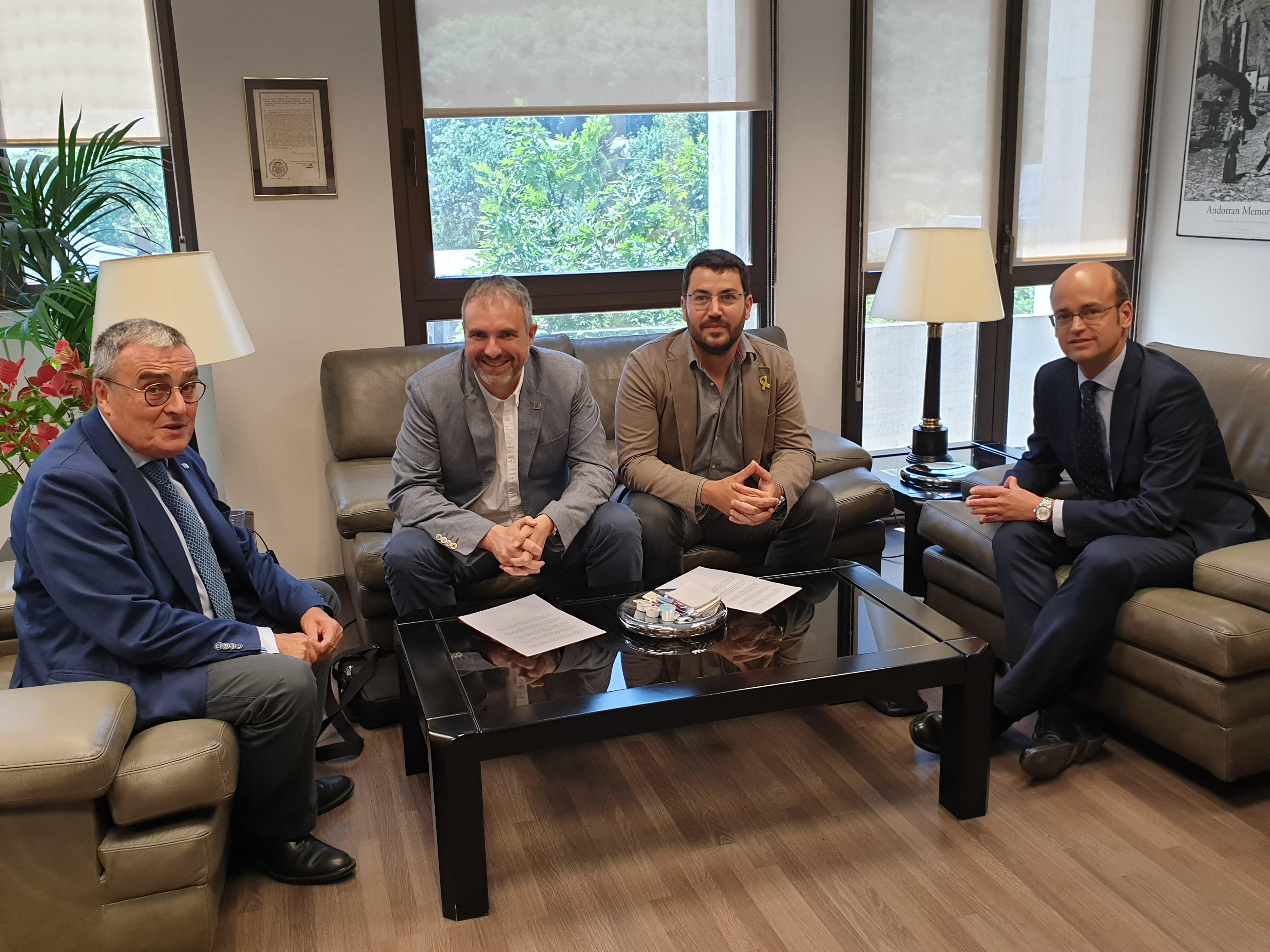 L'alcalde de la Seu d'Urgell, Jordi Fàbrega, i el
