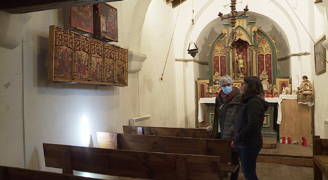 Sant Miquel de Prats exposa la reproducció de 'L'aparició del mont Gàrgan', obra que forma part del retaule