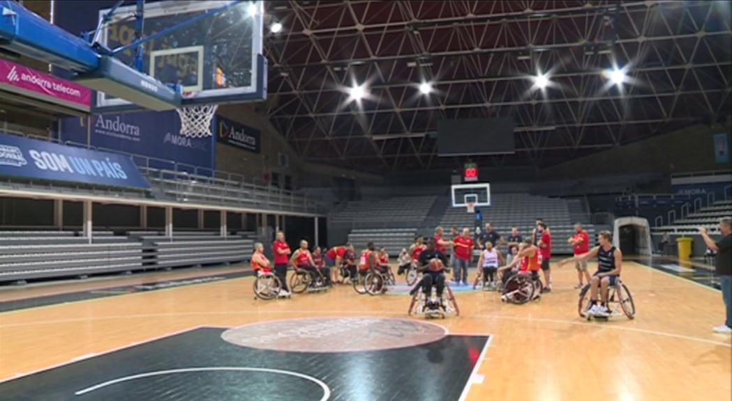 La selecció espanyola de bàsquet amb cadira de rodes tanca l'estada a Andorra amb el MoraBanc