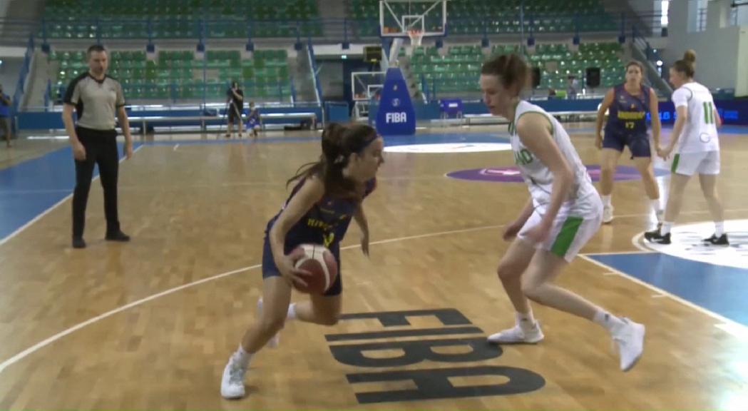 La selecció femenina de bàsquet obre l'Europeu C amb una derrota dura davant d'Irlanda