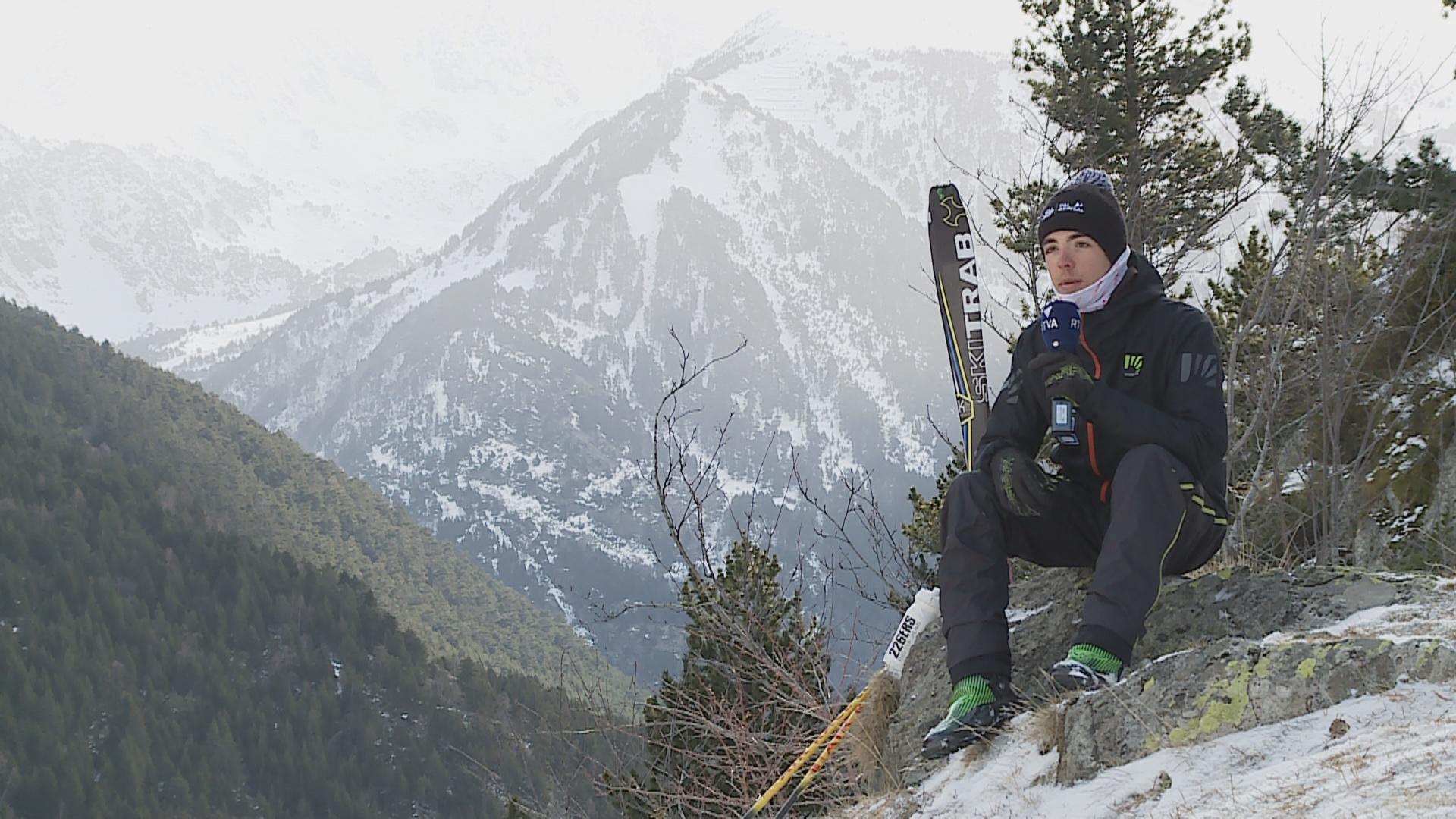 Sergi Casabella és l'esquiador més en forma de la FAM i ja pensa en l'Andorra Comapedrosa